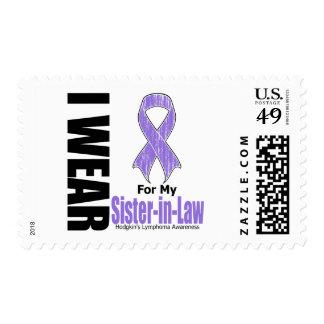 I Wear Violet Sister-in-Law Hodgkins Disease Postage