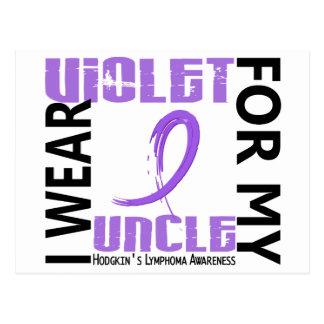 I Wear Violet Uncle 46 Hodgkin's Lymphoma Postcard