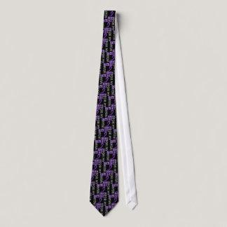 I Wear Violet Wife 46 Hodgkin's Lymphoma Neck Tie