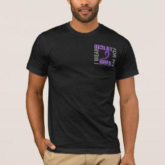 I Wear Violet Wife 46 Hodgkin's Lymphoma T-Shirt