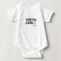 I Wear White for Someone Special Lung Cancer Aware Baby Bodysuit
