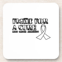 I Wear White for Someone Special Lung Cancer Aware Beverage Coaster