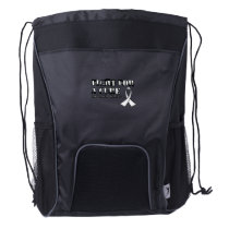I Wear White for Someone Special Lung Cancer Aware Drawstring Backpack