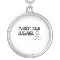 I Wear White for Someone Special Lung Cancer Aware Silver Plated Necklace