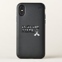 I Wear White for Someone Special Lung Cancer Aware Speck iPhone X Case
