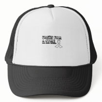 I Wear White for Someone Special Lung Cancer Aware Trucker Hat