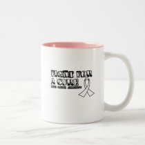 I Wear White for Someone Special Lung Cancer Aware Two-Tone Coffee Mug
