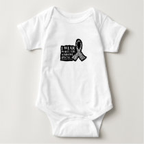 I Wear White for Someone Special Lung Cancer Baby Bodysuit