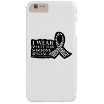 I Wear White for Someone Special Lung Cancer Barely There iPhone 6 Plus Case