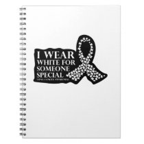 I Wear White for Someone Special Lung Cancer Notebook