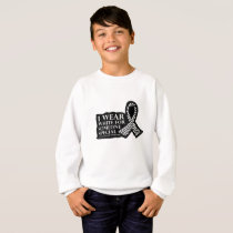 I Wear White for Someone Special Lung Cancer Sweatshirt
