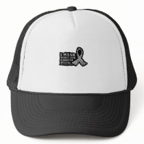 I Wear White for Someone Special Lung Cancer Trucker Hat