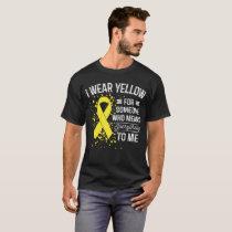 I Wear Yellow - Awareness Yellow Ribbon Gift T-Shirt