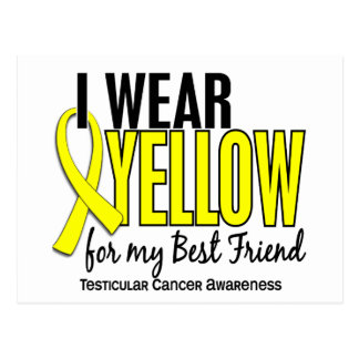 I Wear Yellow Best Friend 10 Testicular Cancer Postcard