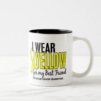 I Wear Yellow Best Friend 10 Testicular Cancer Two-Tone Coffee Mug