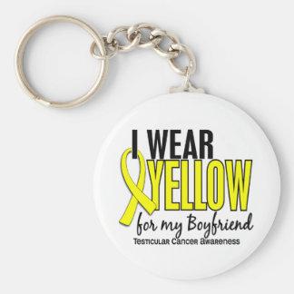 I Wear Yellow Boyfriend 10 Testicular Cancer Basic Round Button Keychain