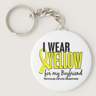 I Wear Yellow Boyfriend 10 Testicular Cancer Keychain