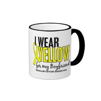 I Wear Yellow Boyfriend 10 Testicular Cancer Ringer Coffee Mug