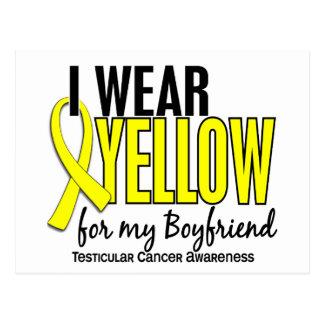 I Wear Yellow Boyfriend 10 Testicular Cancer Postcard