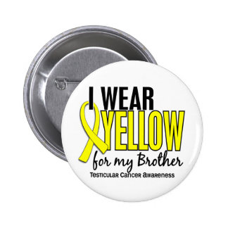 I Wear Yellow Brother 10 Testicular Cancer Pinback Buttons