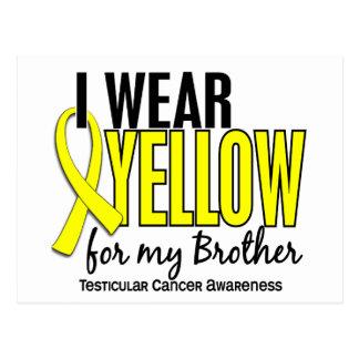I Wear Yellow Brother 10 Testicular Cancer Postcard