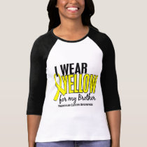 I Wear Yellow Brother 10 Testicular Cancer Shirt