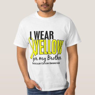 I Wear Yellow Brother 10 Testicular Cancer T-Shirt