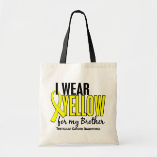 I Wear Yellow Brother 10 Testicular Cancer Tote Bag