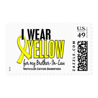 I Wear Yellow Brother-In-Law 10 Testicular Cancer Postage