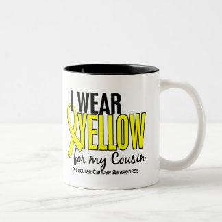 I Wear Yellow Cousin 10 Testicular Cancer Two-Tone Coffee Mug