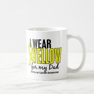 I Wear Yellow Dad 10 Testicular Cancer Classic White Coffee Mug