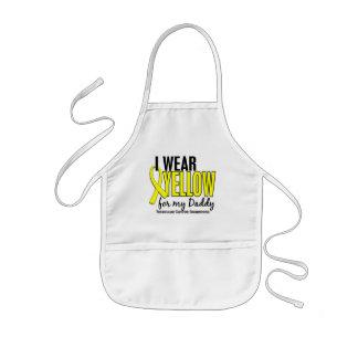 I Wear Yellow Daddy 10 Testicular Cancer Kids' Apron