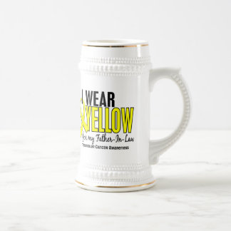 I Wear Yellow Father-In-Law 10 Testicular Cancer Beer Stein