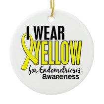 I Wear Yellow For Awareness 10 Endometriosis Ceramic Ornament