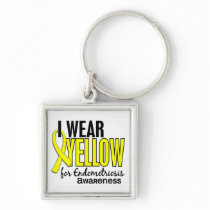 I Wear Yellow For Awareness 10 Endometriosis Keychain