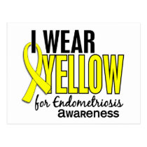 I Wear Yellow For Awareness 10 Endometriosis Postcard