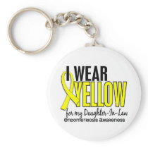 I Wear Yellow For Daughter-In-Law 10 Endometriosis Keychain