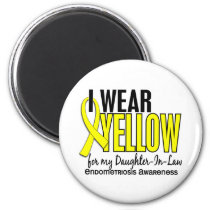 I Wear Yellow For Daughter-In-Law 10 Endometriosis Magnet
