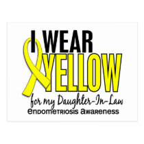 I Wear Yellow For Daughter-In-Law 10 Endometriosis Postcard