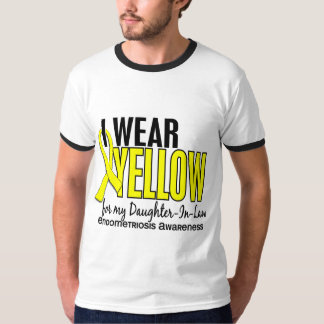 I Wear Yellow For Daughter-In-Law 10 Endometriosis T-shirt