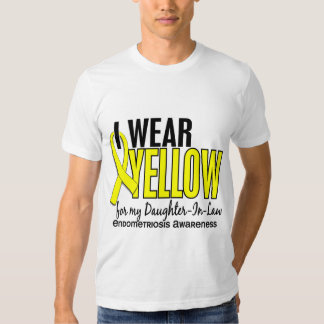 I Wear Yellow For Daughter-In-Law 10 Endometriosis Tee Shirt