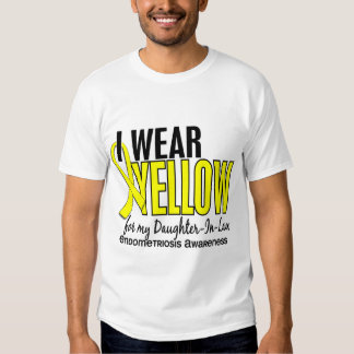 I Wear Yellow For Daughter-In-Law 10 Endometriosis Tee Shirts