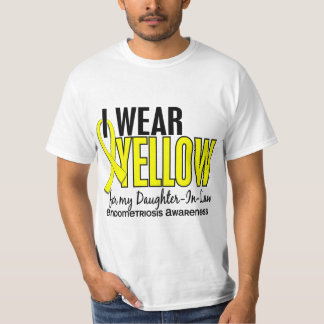 I Wear Yellow For Daughter-In-Law 10 Endometriosis Tshirt