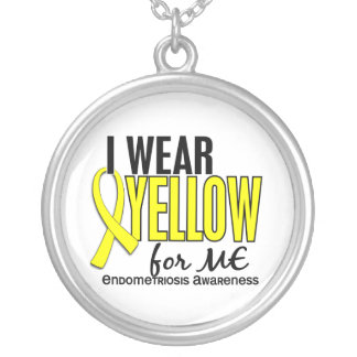 I Wear Yellow For Me 10 Endometriosis Silver Plated Necklace