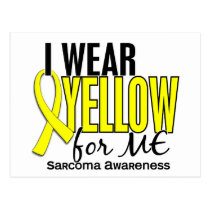I Wear Yellow For Me 10 Sarcoma Postcard
