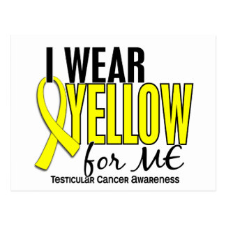 I Wear Yellow For Me 10 Testicular Cancer Postcard