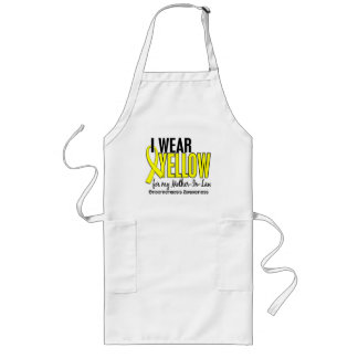 I Wear Yellow For Mother-In-Law 10 Endometriosis Long Apron