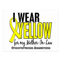 I Wear Yellow For Mother-In-Law 10 Endometriosis Postcard