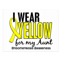 I Wear Yellow For My Aunt 10 Endometriosis Postcard