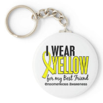 I Wear Yellow For My Best Friend 10 Endometriosis Keychain